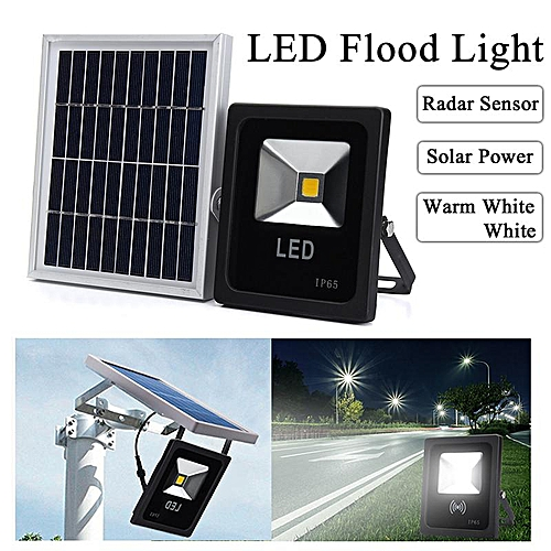 Solar LED Radar Motion Sensor Dusk To Dawn Light Outdoor Garden Wall Street Lamp Warm White