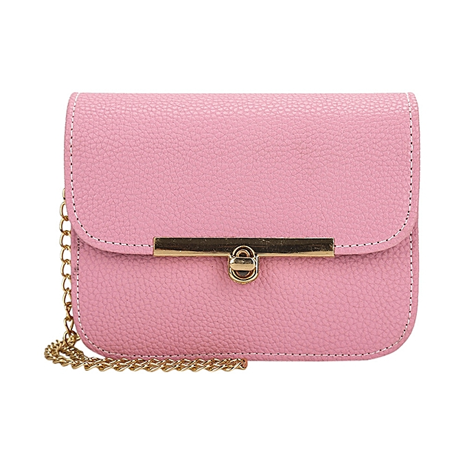 SingedanFashion Women Ladies Bags Crossbody Chain Messenger Shoulder Bag  Handbag -Pink