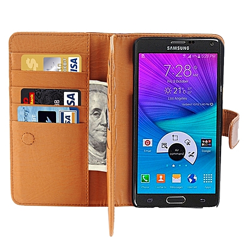 Generic Crazy Horse Texture Horizontal Flip Leather Case With 3 Pages Of Card Slots & Wallet & Holder For Samsung Galaxy Note 5 / N920(Brown)