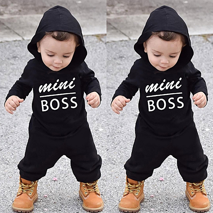 8539a4a2141d Adorabl Toddler Kids Baby Letter Boys Hoodie Outfits Clothes Romper Jumpsuit