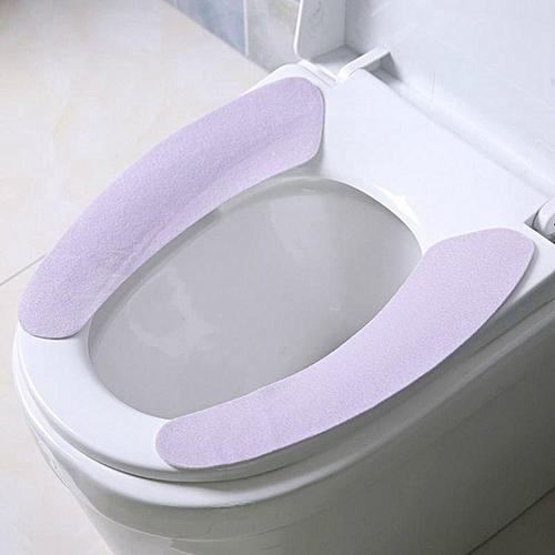 Eleganya House Practical Simple Pure Color Plush Toilet Seat Cushion