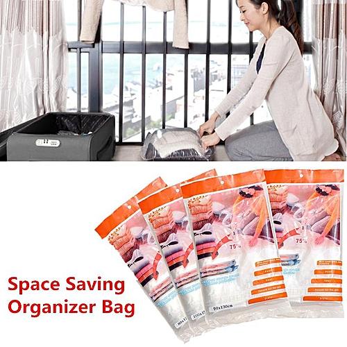 3PCS 50x60cm Package Space Saving Storage Saver Vacuum Compressed Organizer Seal Bag