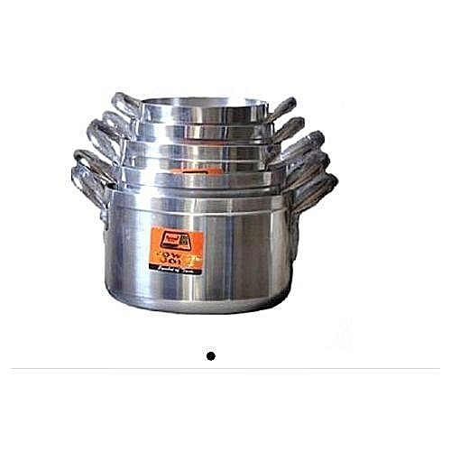 Quality Aluminium Tower Gold Pot 5sets - Silver