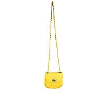 Las Italian Pe Leather Hand Bag Yellow