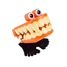 Braveayong Halloween Clockwork Gift Wind Up Vampire Tooth Bounce Toy Educational Toys -Orange for sale  Nigeria