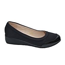 9bd0dd9b1de6 Modest Low Wedge Shoes - Black