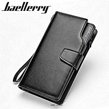2018 New Men Wallets Casual Wallet Man Purse Clutch Bag Brand Leather Wallet Long Design Bag