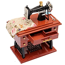 Vintage Music Box Mini Sewing Machine Style Mechanical Birthday Gift Table Decor for sale  Nigeria