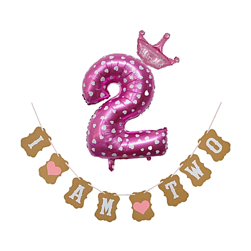 Jummoon Shop 30'' Number Foil Balloons Digit Helium Birthday Party Banner Baby Shower Decor