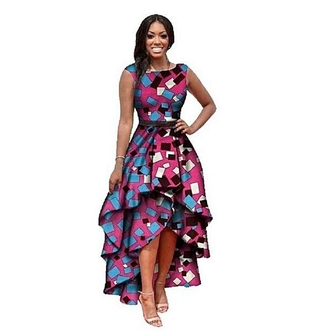 1c662dd083a Large Size Dress Women s Sleeveless Printed Bouquet Waist Dress Fashion  European Style Summer Long Dress Vintage