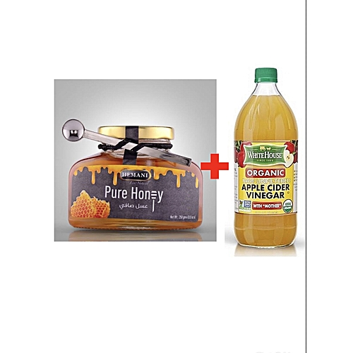 Apple Cider Vinegar With Mother 473ml And Pure Honey 250g