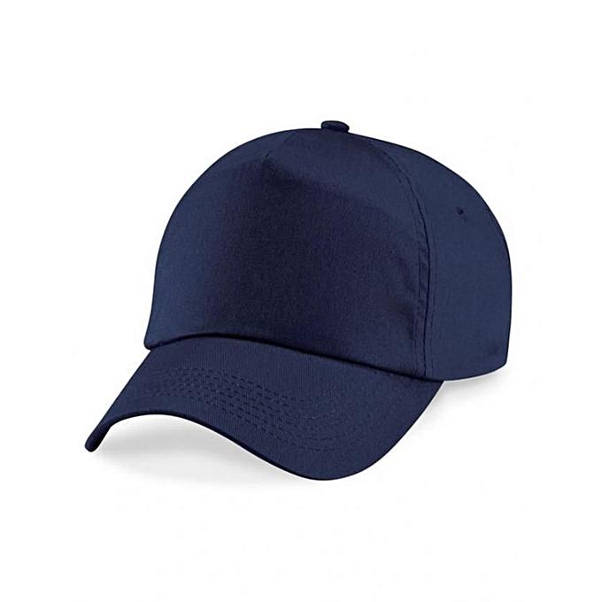 49808b280d1 Fashion Plain Face Cap - Navy Blue