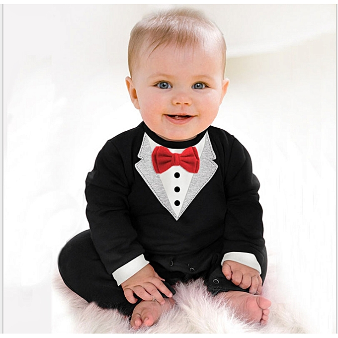 7067f58f3 Fashion Child Suits Cotton Jumpsuit Rompers Newborn Baby Boy Clothes ...