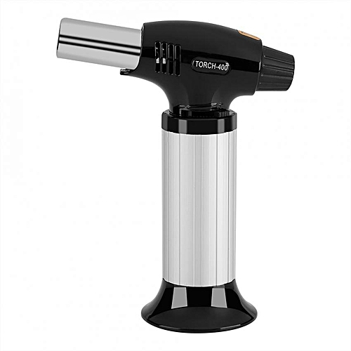 Professional Kitchen Butane Blow Torch Adjustable Flame For Meat Seafood