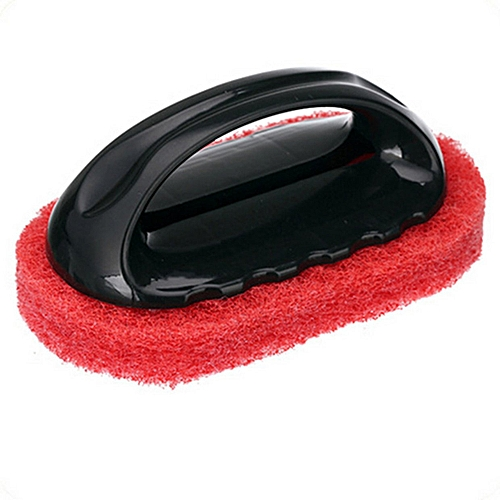 GB Sponge Brush With Handle For Bathroom Tile Decontamination Wipe-red