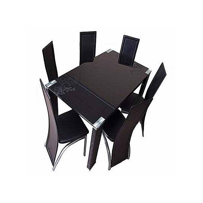 Generic 6 Seater Glass Dining Table Set With Chairs Jumia Com Ng