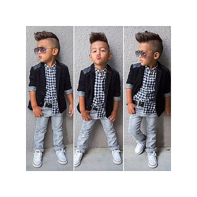 41b557642 Fashion Oys Gentleman Suits Coat Pants 3pcs Children Clothing Set ...