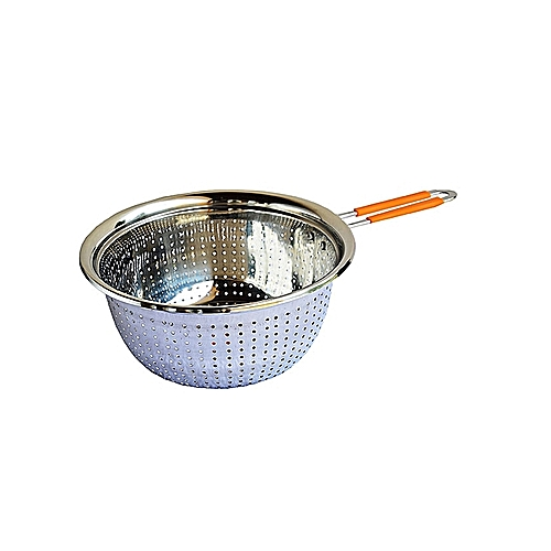 Stainless Steel Food Strainer/Steamer - 22cm
