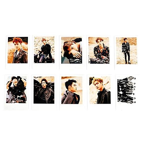 10Pcs/Set KPOP EXO TEMPO Album Photo Cards Collection DIY Photocard Office Stationery Set