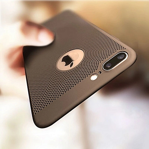 IPHONE 7 PLUS CASE,HOLLOW BREATHABLE Case For Iphone 7 PLUS (Durable, Thick, Stain Resistance )---BLACK