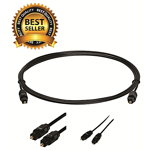 Premium Quality Digital Optical Audio Cable, Slim Digital Optical Audio  Cable For Sound Bar, TV, Home Theater, PS4, Xbox – 6Feet (2 Meters), Black,