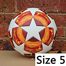 World Soccer Ball Red Black Match Football Ball PU High Grade Seamless Paste Skin Outdoor Sport Training Football Cup(Red Champions League) for sale  Nigeria
