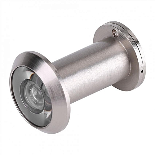 Home Security Optical Glass Wide Angle Peephole Door Scope Viewer (Brushed Silver)