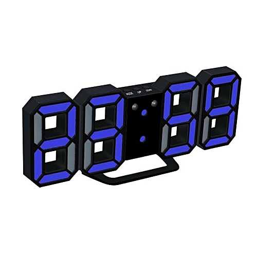 New Modern Digital LED Table Clock Watches 24 Or 12-Hour Display Alarm Snooze Alarm Clock For Home Room Decal Gift(BL)