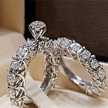 65590c95f 2Pcs/Set Synthetic Diamond Women Rings Women Fashion Jewelry For Wedding