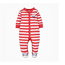 37964b06b Long Sleeve Thicker-legged Jumpsuit - Red And White Stripe