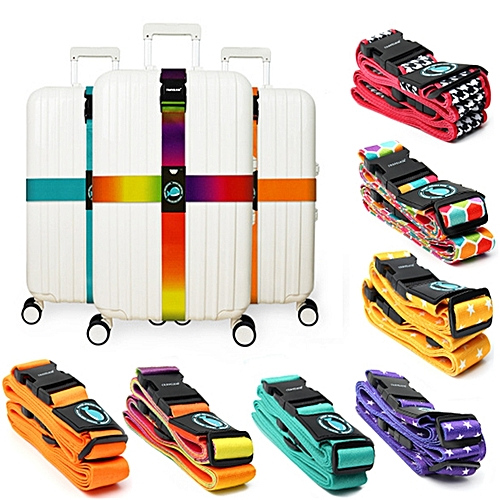 Honana WX-L1 Travel Luggage Cross Strap Suitcase Bag Packing Belt Secure Buckle Band With Label