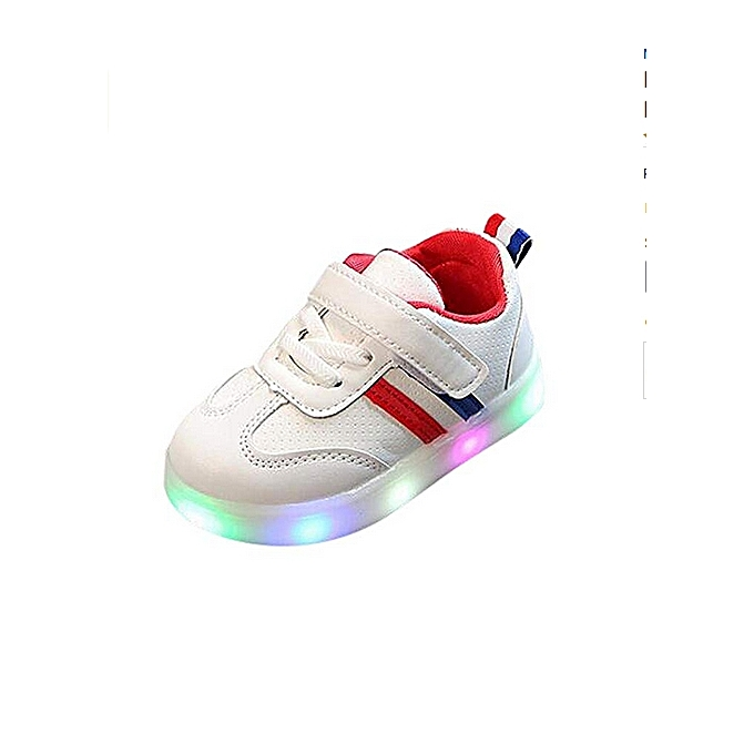 c10821922cd5 Toddler Baby Girls Boys Led Light Up Sport Sneaker Kids Luminous Running  Walking Shoes For 1