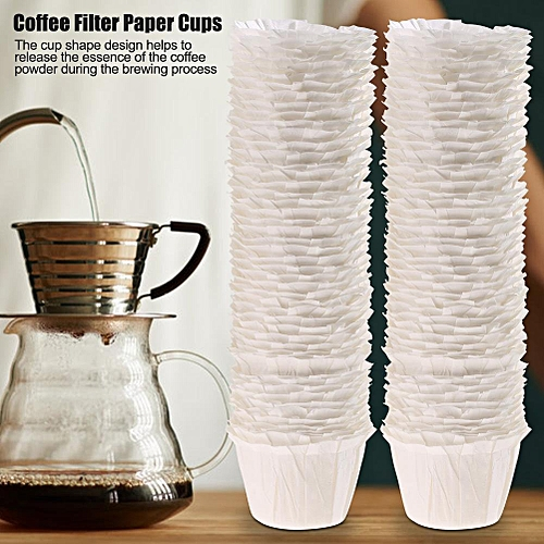 100pcs Disposable Food Grade Coffee Filter Paper Cups Effective Filtrating Replacement