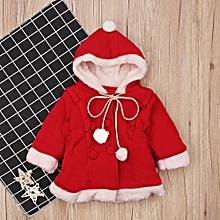 3c6b39f410 Children  039 S Winter Girl Long Sleeve Christmas Christmas Hat Thickening  Velvet Coat Children