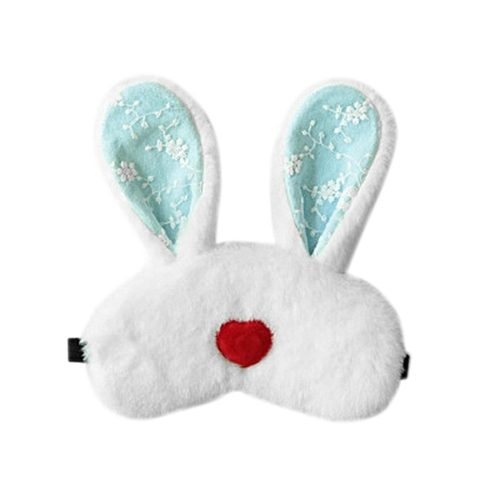 GB Long Ear Rabbit Sleep Eye Mask Eyeshade Relieving Fatigue Eyes Protector Cover-white & Blue