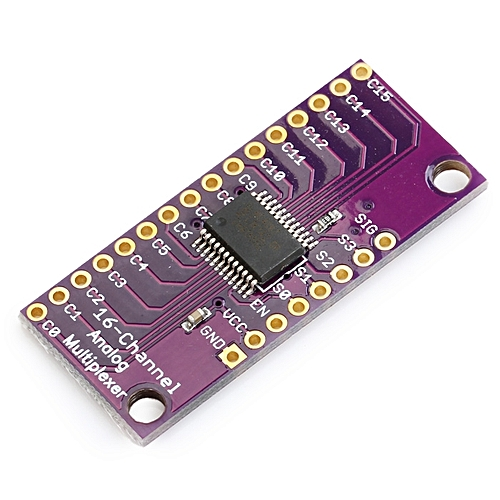 CD74HC4067 16 Bit Board Analog Digital Multiplexer Plate Module Arduino DIY Parts - Purple