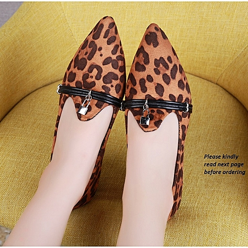 Sexy And Classy Deep Leopard Skin Female Shoe