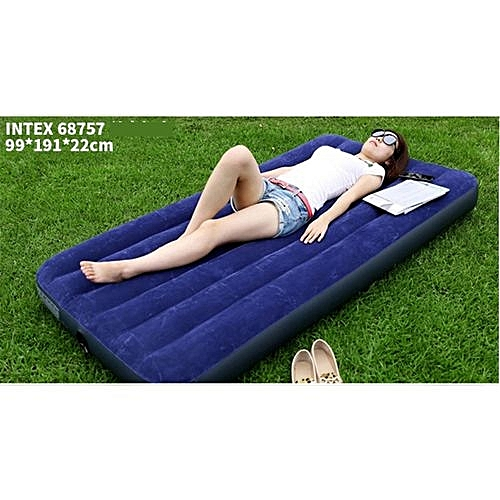 Inflatable Mattress Air Bed With Pump - Single BLUE