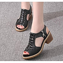 15bb7d034 Women  039 s Shoes Mid-Heeled Zip Sandals Block Heel