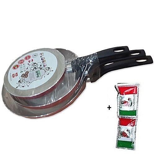 Frying Pan Set - (18-22-26cm Diameter)