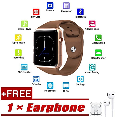 aa6a61ba2 Generic Bormelun A1 WristWatch Bluetooth Smart Watch Sport Pedometer  Support SIM TF Card With CamFunction Smartwatch For IPhone IOS Android  Smartphone ...