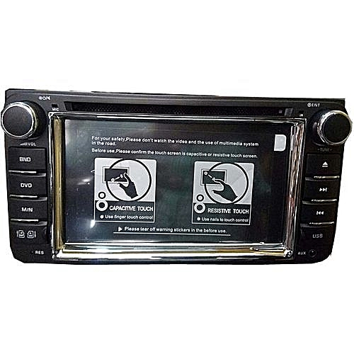 Toyota Universal Car DVD Player With Bluetooth, USB, SD And Auxiliary Inputs + Reverse Camera
