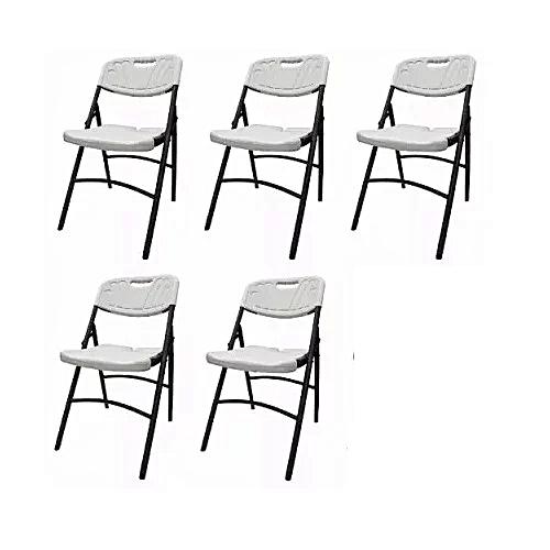 Plastic Folding Chair 5pieces - White