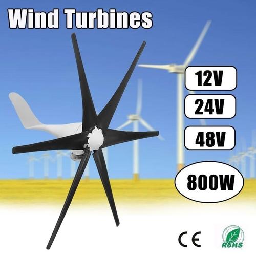 generic 800w wind turbine generator 12v 24v 48v 6 blade windmill rh jumia com ng