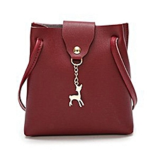 ad0d5b16fe Women Handbag Solid Color Shoulder Bag Storage Bag With Adjustable Strap  Wine Red