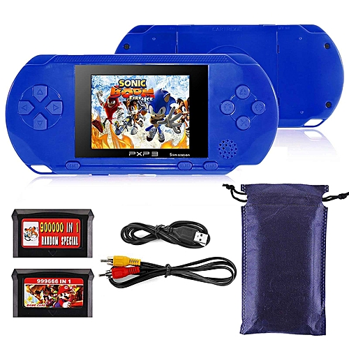 marsee marsee 4.3 Inch Handheld Game Console Player Built-in 200 Games 16 Bit For Kids Adults-Blue