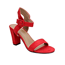 9a8f1e20b71 Ankle Lady Block Heel Sandal - Red