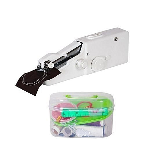 Portable Hand Held Sewing Machine With Sewing Kit