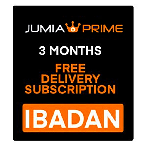 Jumia Prime - Free Delivery Ibadan - 3 Months Subscription