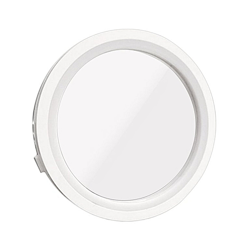 8X Makeup Mirror 360-Degree Rotation 6 LED Lighted Magnetic Make Up Mirror White